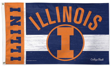 Illinois Fighting Illini Throwback Vintage Banner Flags 3*5ft