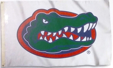 Florida Gators White Logo Banner Flag 3*5ft
