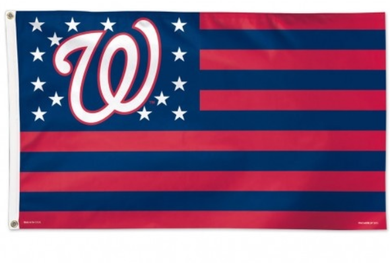 Washington Nationals Patriotic Team Banner flag 3ftx5ft