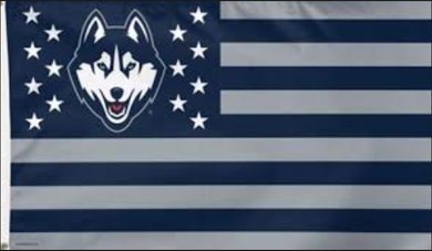 Connecticut Huskies Star and Stripes US Banner Flag 3*5ft