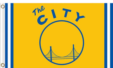 Golden State Warriors the city flag 3ftx5ft