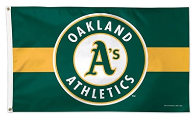 Oakland Athletics Deluxe Banner flag 3ftx5ft