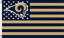 Load image into Gallery viewer, Los Angeles Rams Flag with Star and Stripes 3FTx5FT