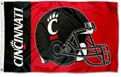 University of Cincinnati Bearcats Helmet Banner Flag 3*5ft