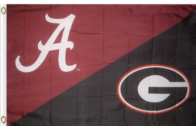 Alabama & Georgia House Divided Flag 3ftx5ft