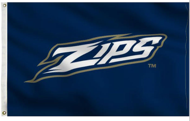 Akron Zips Team Logo Banner Flag 3ftx5ft
