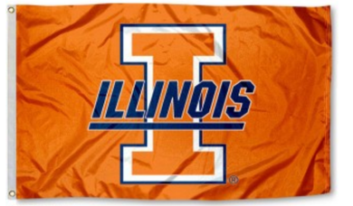 Illinois Fighting Illini Throwback Logo Banner Flags 3*5ft