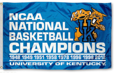 Kentucky Wildcats 2012 Kentucky 8-Time Champs Banner Flag 3*5ft