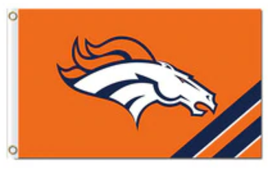 Denver Broncos Stripes flag Banner 3x5ft