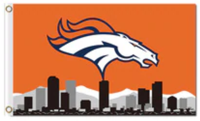 Denver Broncos Skyline Banner Flag 3x5ft