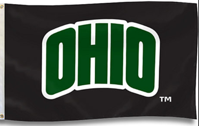 Ohio Bobcats University Black Banner Flag 3x5FT