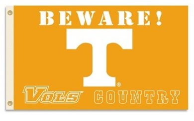 Tennessee Volunteers Beware Vols Country Banner Flag 3*5ft