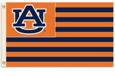 Auburn Tigers Star And Stripes US Banner Flag 3ft*5ft