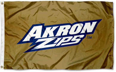 Akron Zips University Banner Flag 3ftx5ft