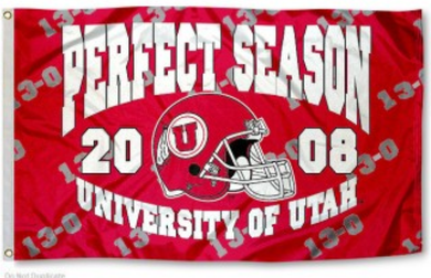 Utah Utes Perfect Season 2008 13-0 sports team flag
