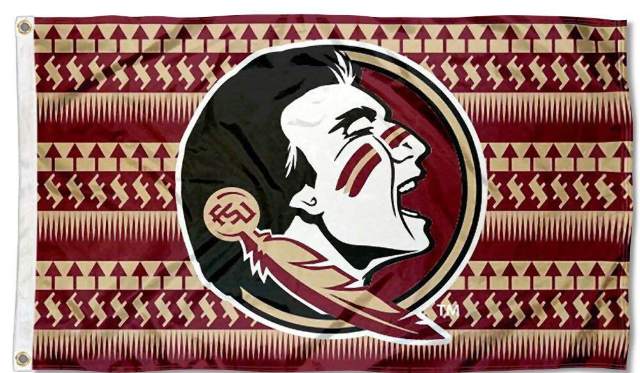 Florida State Seminoles Chevron College Banner Flag 3ft*5ft