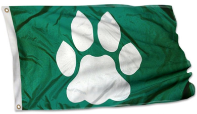 Ohio Bobcats Banner Paw 3x5FT Flag