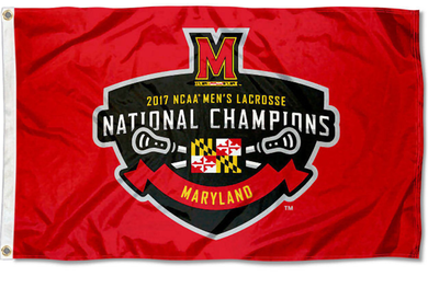 Maryland Terrapins 2017 Men's LAX National Champions Banner Flag 3*5ft