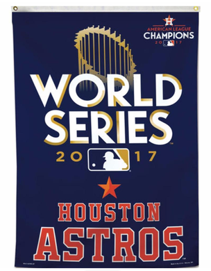 Houston Astros World Series 2017 flags 3ftx5ft