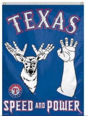 Texas Rangers Throwback Large Banner Flag 3x5ft