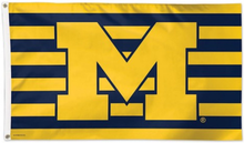 Load image into Gallery viewer, Michigan Wolverines Stars & Stripes Flag 3x5ft