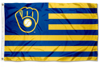 Milwaukee Brewers Americana Nation flag 3ftx5ft