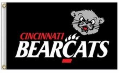 Cincinnati Bearcats Black Hand Banner Flag 3ft*5ft
