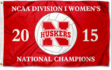 Nebraska Cornhuskers Women's Volleyball Champs Flag 90*150 CM