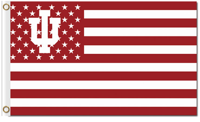 Indiana Hoosiers Star and Stripe Banner Flag 3*5ft
