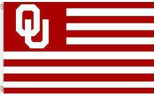 Load image into Gallery viewer, Oklahoma Sooners Stripes Nation Banner Flags 3*5ft