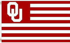 Oklahoma Sooners Stripes Nation Banner Flags 3*5ft