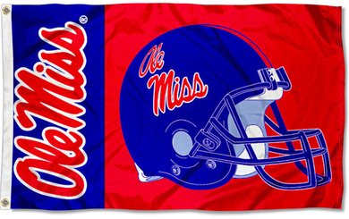 Mississippi Rebels Ole Miss Helmet Flag 3x5ft