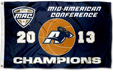 Akron Zips 2013 MAC Champs Banner Flag 3ftx5ft