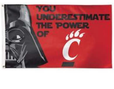 Cincinnati Bearcats Stars War Banner Flag 3ft*5ft