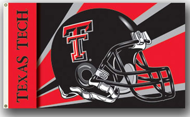 Texas Tech Red Raiders Helmet Banner Flag 3ft*5ft