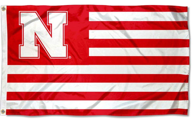 Nebraska Cornhuskers Stars and Stripes Nation Flag 90*150 CM