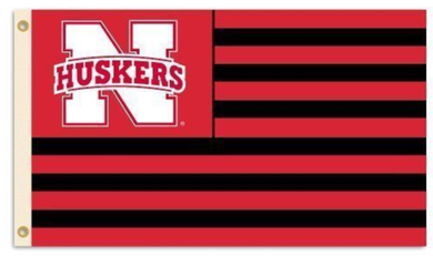 Nebraska Cornhuskers Striped Flag 90*150 CM