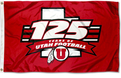 Utah Utes 125 Football Seasons Logo Banner flag 3x5ft