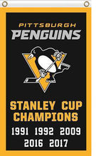 Load image into Gallery viewer, Pittsburgh Penguins flag Champion Banner
