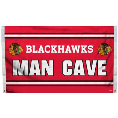 Chicago Blackhawks Man Cave Flag 3x5 ft