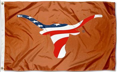Texas Longhorns USA Banner Flag 3x5FT