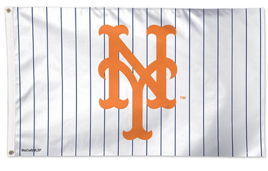 New York Mets White Banner flag 3ftx5ft