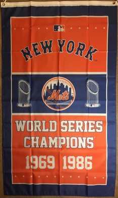 New York Mets World Series Championship Banner flag 3ftx5ft