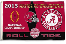 Load image into Gallery viewer, Alabama Crimson Tide 2015 Champions 3x5ft