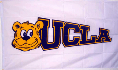 UCLA Bruins White Banner Flag Digital 3*5ft