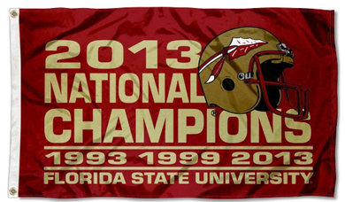 Florida State Seminoles Champion Years Banner Flag 3ft*5ft