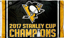Load image into Gallery viewer, Pittsburgh Penguins 2017 Stanley Cup Champions Flag 3x5 ft