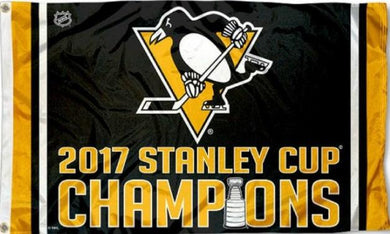 Pittsburgh Penguins 2017 Stanley Cup Champions Flag 3x5 ft