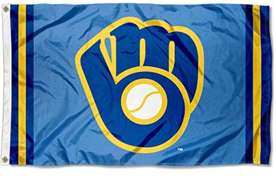 Milwaukee Brewers Retro Glove flag 3ftx5ft