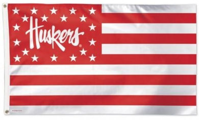 Nebraska Cornhuskers Stars and Stripes Flag 90*150 CM